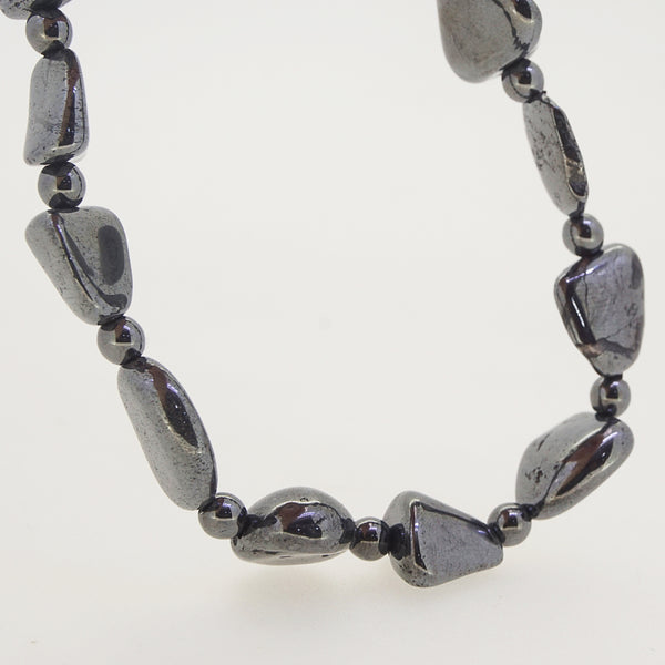 Silver Hematite Tumble with Rondelle - Gaea | Crystal Jewelry & Gemstones (Manila, Philippines)