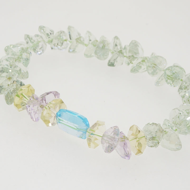Gem-Grade Prasiolite with Blue Topaz and Lavender Amethyst - Gaea | Crystal Jewelry & Gemstones (Manila, Philippines)