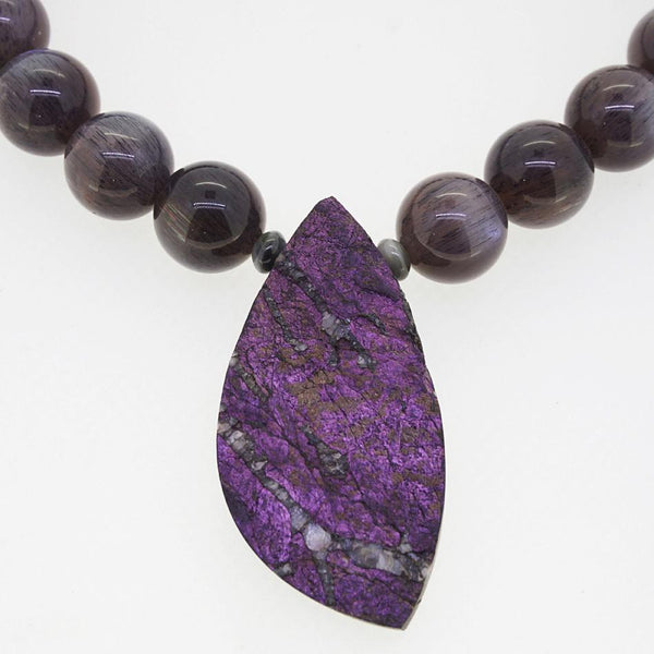 A-Grade Black Sunstone and Raw Purpurite - Gaea | Crystal Jewelry & Gemstones (Manila, Philippines)