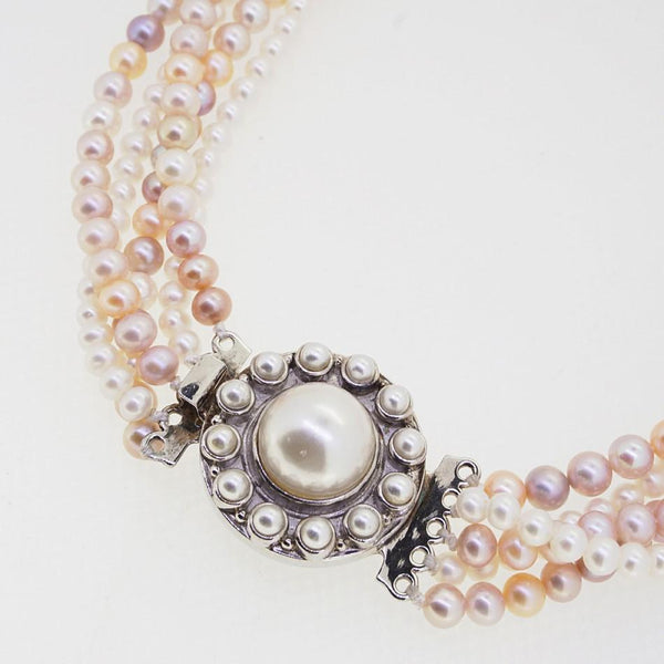 Multi-Strand Champagne and White Freshwater Pearls - Gaea | Crystal Jewelry & Gemstones (Manila, Philippines)