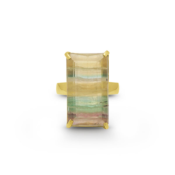 A-Grade Banded Green and Yellow Fluorite