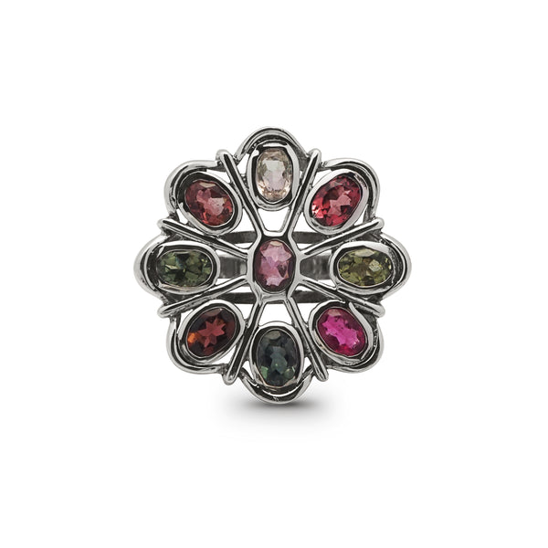 Multicolored Tourmaline Flower