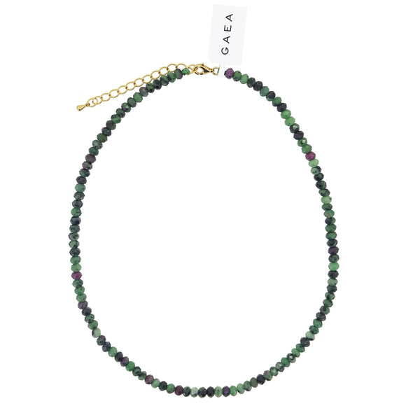 Ruby Zoisite Faceted Rondelle 5mm - Gaea | Crystal Jewelry & Gemstones (Manila, Philippines)