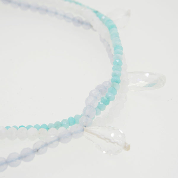 Blue Lace Chalcedony, Rainbow Moonstone, and Amazonite - Gaea | Healing Crystals and Gemstone Jewelry (Manila, Philippines)