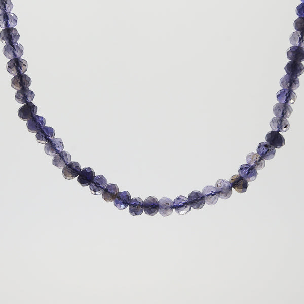 Iolite Faceted Rondelle 5mm - Gaea | Crystal Jewelry & Gemstones (Manila, Philippines)