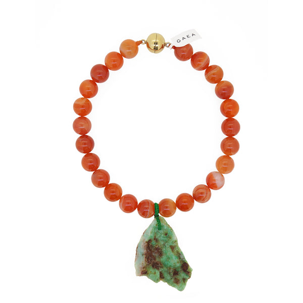 Carnelian and Raw Chrysoprase - Gaea