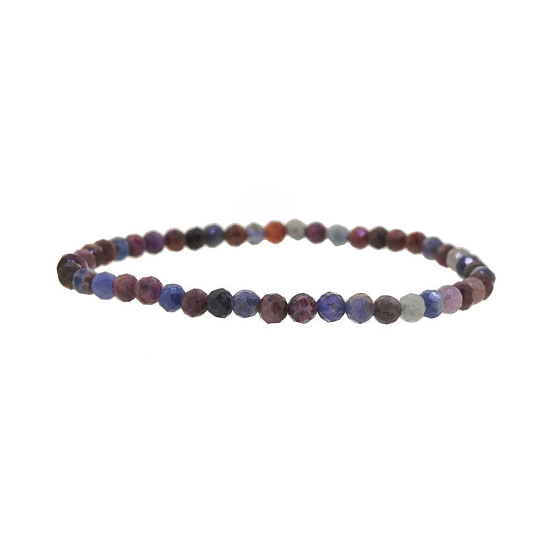 Multicolored Sapphire Faceted 4mm