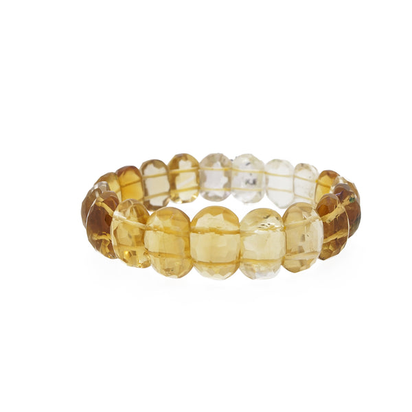 A-Grade Citrine Faceted Bangle - Gaea | Crystal Jewelry & Gemstones (Manila, Philippines)