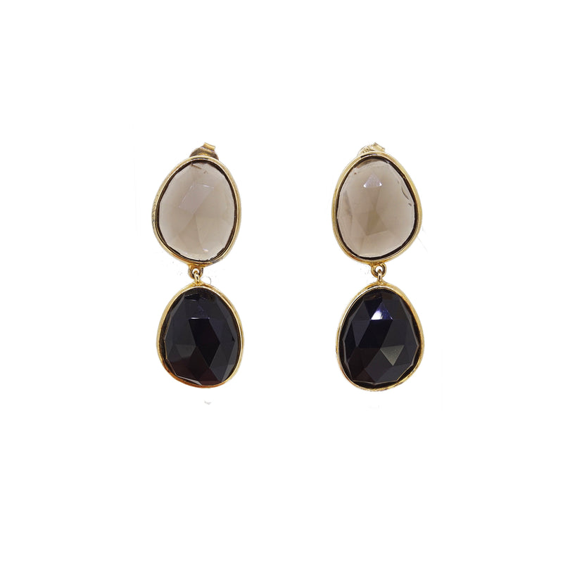 Smoky Quartz and Black Onyx Drop - Gaea | Healing Crystals and Gemstone Jewelry (Manila, Philippines)