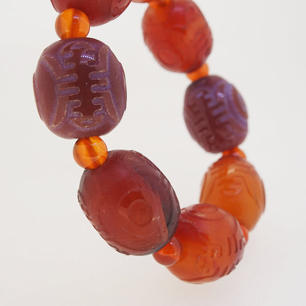 Carved Carnelian Tumble and 6mm - Gaea | Crystal Jewelry & Gemstones (Manila, Philippines)