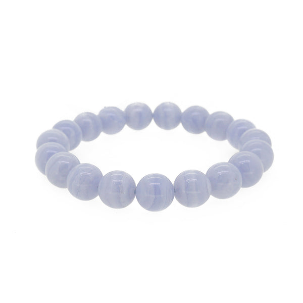 Blue Lace Chalcedony 10mm - Gaea | Crystal Jewelry & Gemstones (Manila, Philippines)