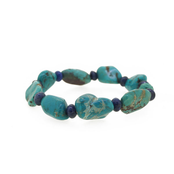 Turquoise with Dumortierite - Gaea | Crystal Jewelry & Gemstones (Manila, Philippines)