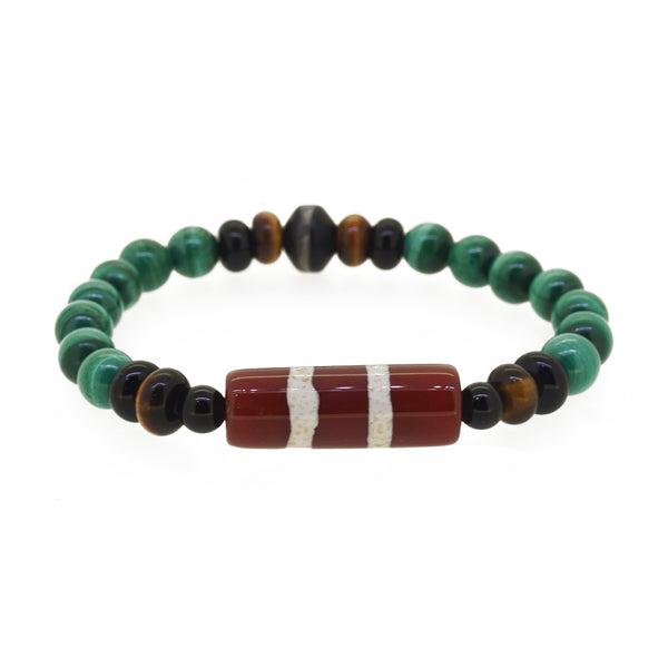 Mixed Gems with Tibetan Dzi Beads - Gaea | Crystal Jewelry & Gemstones (Manila, Philippines)