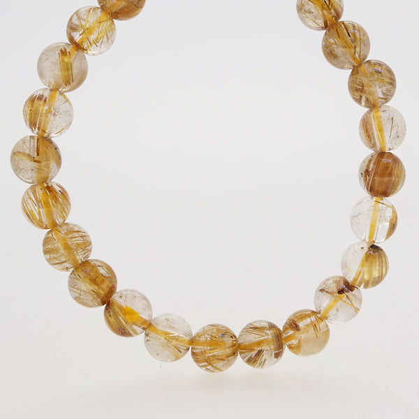 A-Grade Golden Rutilated Quartz 7mm - Gaea | Crystal Jewelry & Gemstones (Manila, Philippines)