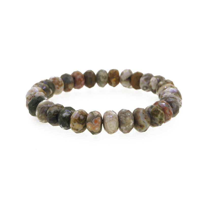 Ocean Jasper Faceted Rondelle - Gaea | Crystal Jewelry & Gemstones (Manila, Philippines)