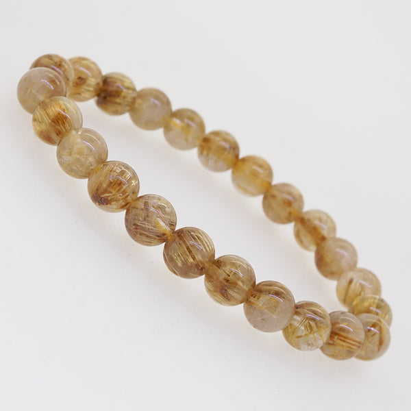 Golden Rutilated Quartz 8mm - Gaea | Crystal Jewelry & Gemstones (Manila, Philippines)