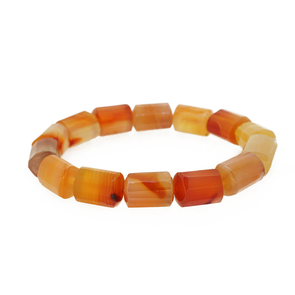 Carnelian Faceted Cylinder - Gaea | Crystal Jewelry & Gemstones (Manila, Philippines)