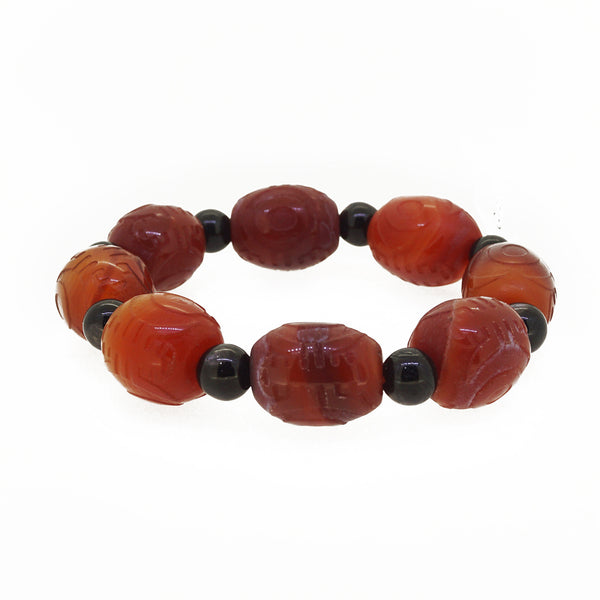 Carved Carnelian and Hypersthene - Gaea | Crystal Jewelry & Gemstones (Manila, Philippines)