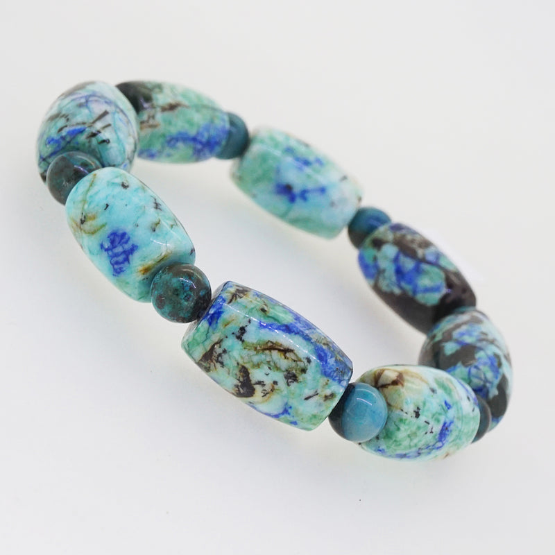 Azurite Barrel with Chrysocolla 7.5mm - Gaea | Crystal Jewelry & Gemstones (Manila, Philippines)