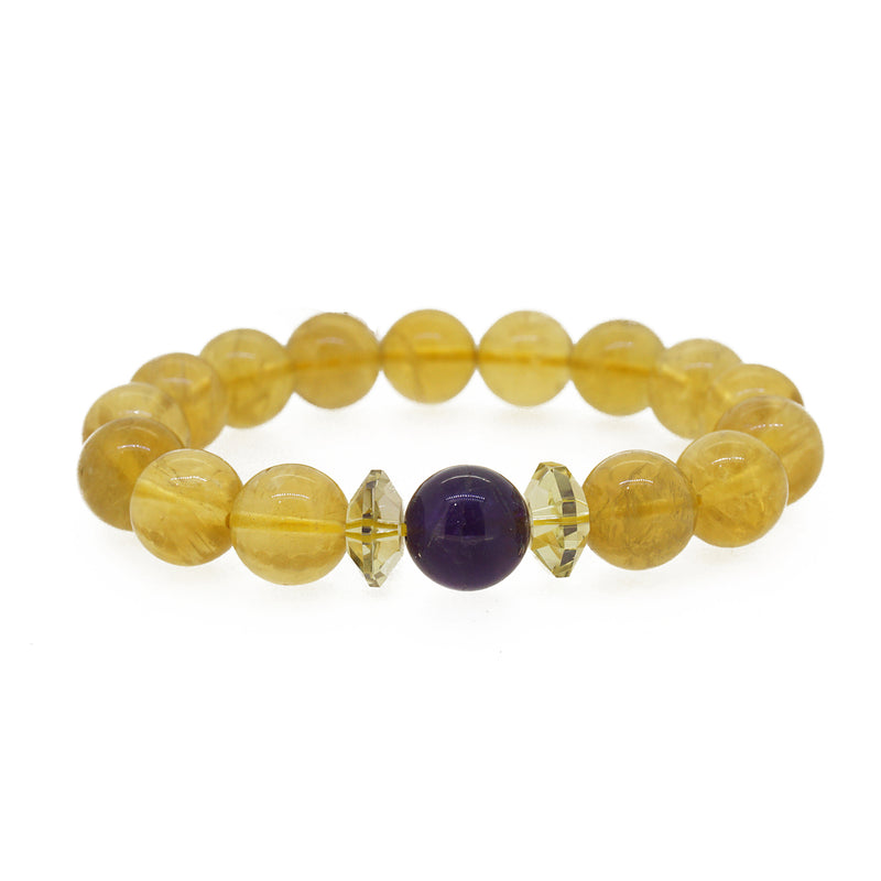 Yellow Fluorite with Amethyst - Gaea | Crystal Jewelry & Gemstones (Manila, Philippines)