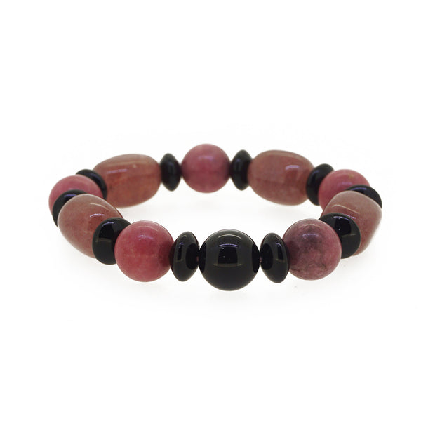 Pink Muscovite, Rhodonite and Black Onyx - Gaea | Crystal Jewelry & Gemstones (Manila, Philippines)