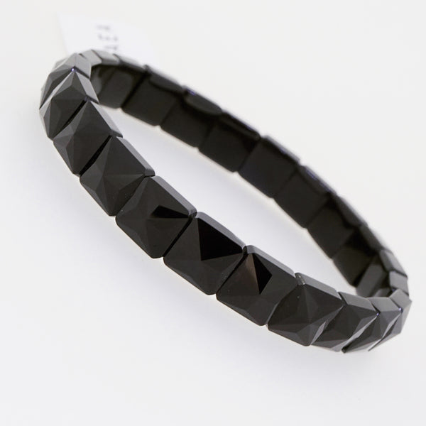 Black Spinel Faceted Square Bangle - Gaea | Crystal Jewelry & Gemstones (Manila, Philippines)