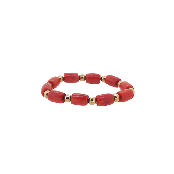 Japanese Red Coral Barrel with Hematite (For Baby) - Gaea | Crystal Jewelry & Gemstones (Manila, Philippines)