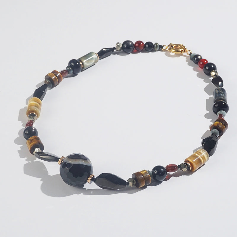 Tiger Eye, Botswana Agate, Hypersthene, Onyx, Plated Hematite