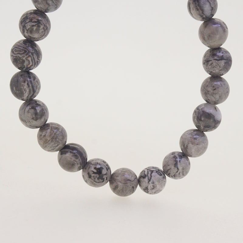 Gray Crazy Lace Agate 8mm - Gaea | Crystal Jewelry & Gemstones (Manila, Philippines)