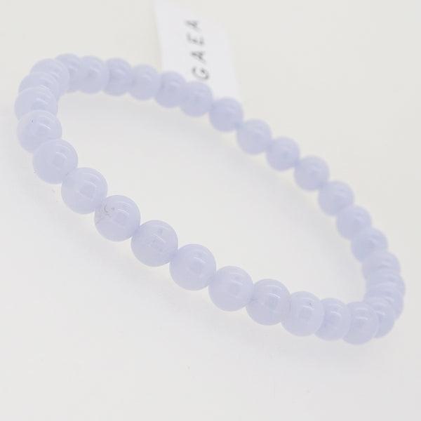 Blue Lace Chalcedony 6mm - Gaea | Crystal Jewelry & Gemstones (Manila, Philippines)