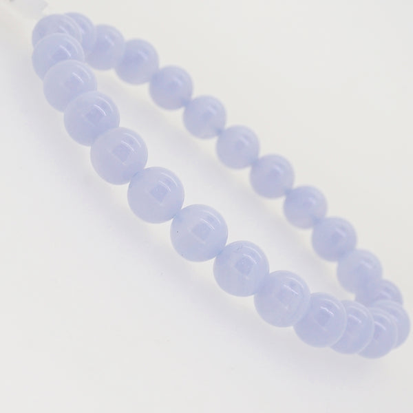 Blue Lace Chalcedony 8mm - Gaea | Crystal Jewelry & Gemstones (Manila, Philippines)