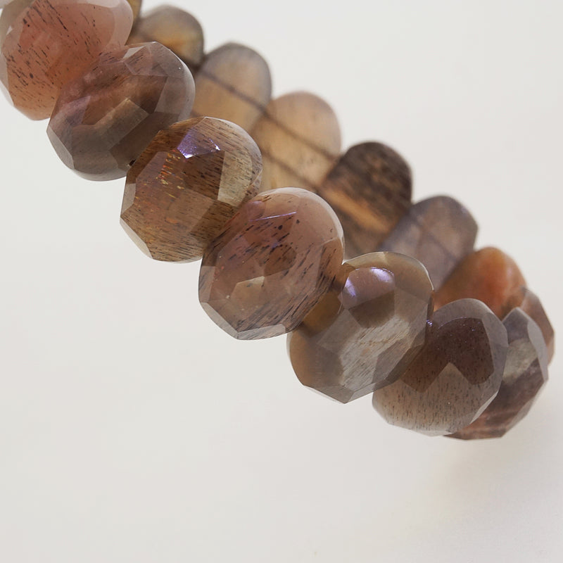 Sunstone Faceted Oval Bangle - Gaea | Crystal Jewelry & Gemstones (Manila, Philippines)