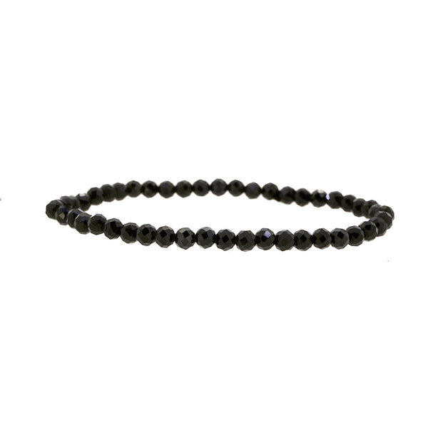 Black Tourmaline Faceted 4mm - Gaea | Crystal Jewelry & Gemstones (Manila, Philippines)