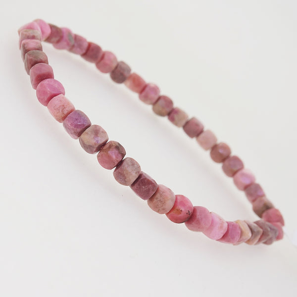 Rhodonite Faceted Cubes - Gaea | Crystal Jewelry & Gemstones (Manila, Philippines)