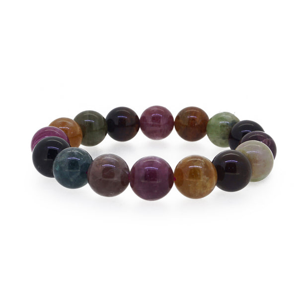 A-Grade Multicolored Tourmaline 13mm - Gaea