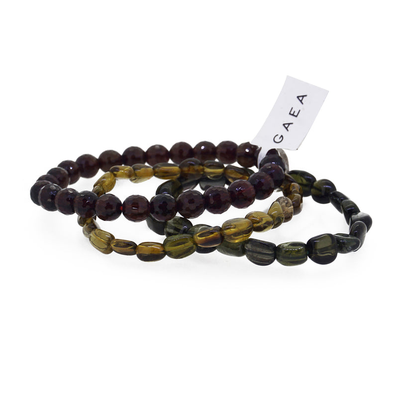 Red, Golden and Green Tourmaline Set - Gaea | Crystal Jewelry & Gemstones (Manila, Philippines)