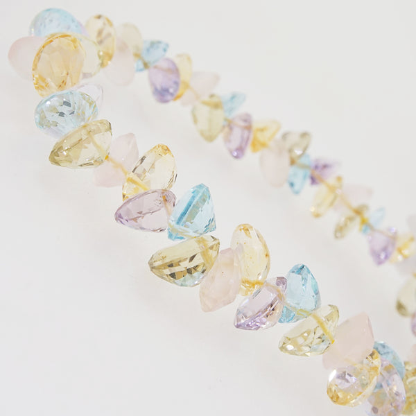 Gem-Grade Blue Topaz, Amethyst, Rose Quartz, Citrine Briolette - Gaea | Crystal Jewelry & Gemstones (Manila, Philippines)