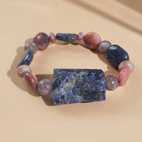 Sodalite, Lepidolite, and Dumortierite Mixed Gemstones