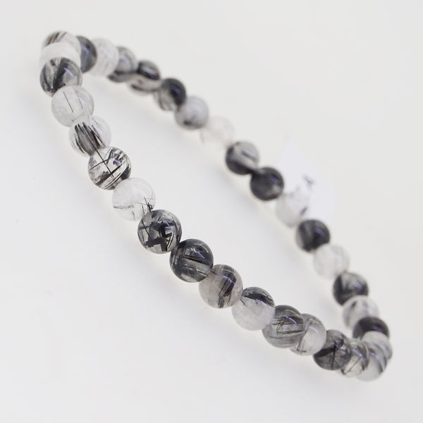 Black Tourmalinated Quartz 6mm - Gaea | Crystal Jewelry & Gemstones (Manila, Philippines)