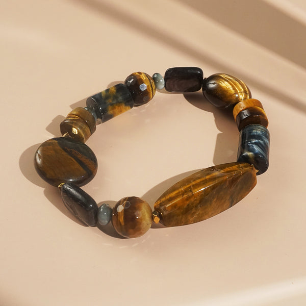 Tiger Eye, Eagle Eye, and Hematite Mixed Gemstones