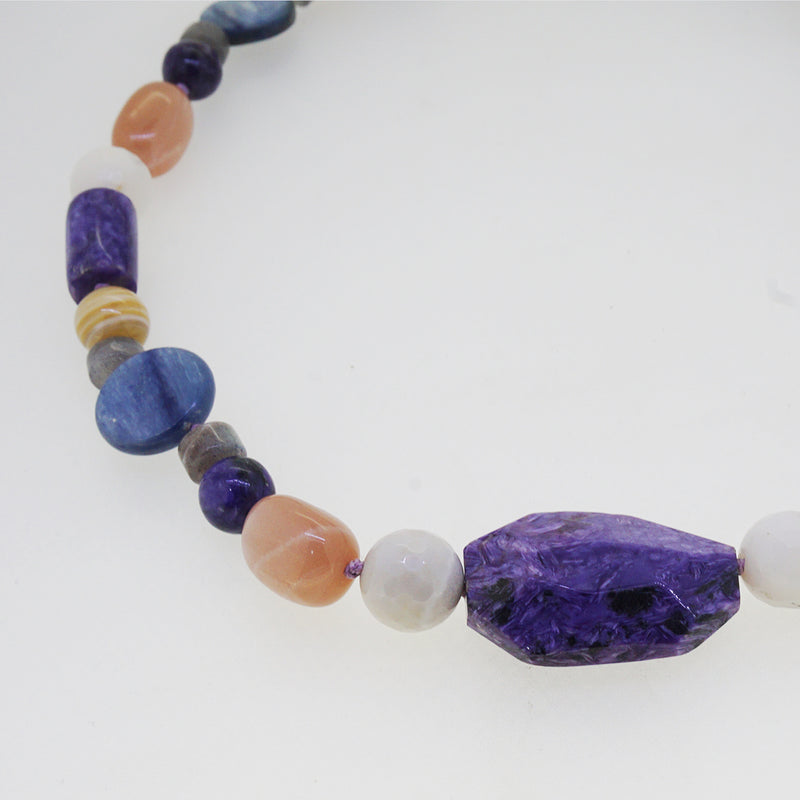 Charoite, Kyanite, Peach Moonstone, and Tiger Eye - Gaea | Crystal Jewelry & Gemstones (Manila, Philippines)