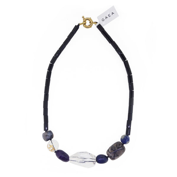 Black Onyx with Clear Quartz, Sodalite, and Amethyst - Gaea | Crystal Jewelry & Gemstones (Manila, Philippines)