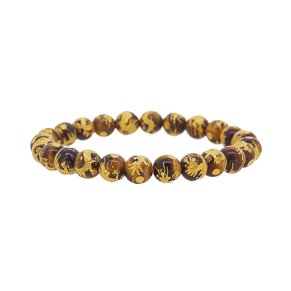 Tiger Eye with Carved Gold Vermeil - Gaea | Crystal Jewelry & Gemstones (Manila, Philippines)