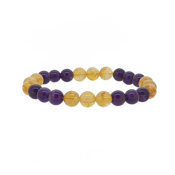 Amethyst and Citrine 8mm - Gaea | Crystal Jewelry & Gemstones (Manila, Philippines)