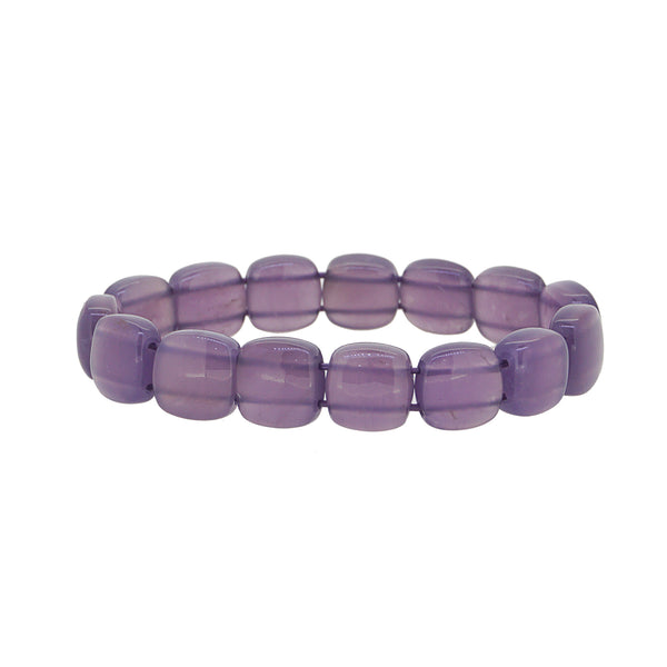 A-Grade Purple Chalcedony Bangle (M) - Gaea | Crystal Jewelry & Gemstones (Manila, Philippines)