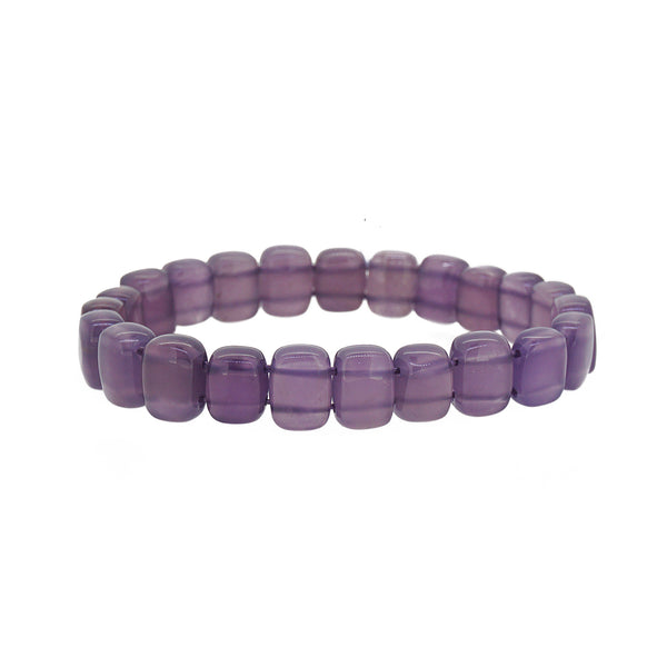 A-Grade Purple Chalcedony Bangle (S) - Gaea | Crystal Jewelry & Gemstones (Manila, Philippines)