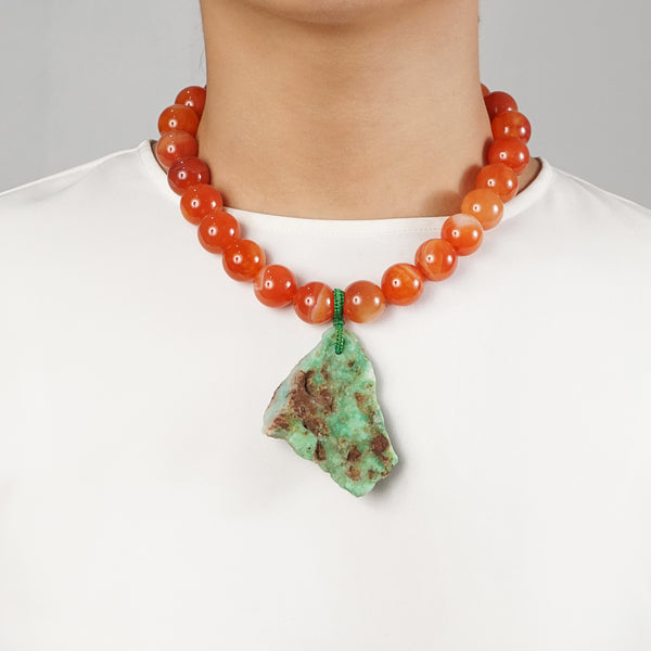 Carnelian and Raw Chrysoprase - Gaea | Crystal Jewelry & Gemstones (Manila, Philippines)