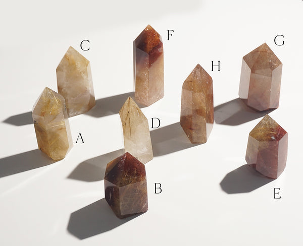 Golden/Copper Rutilated Quartz Point E