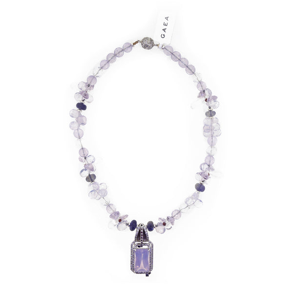 Gem-Grade Lilac Milky Amethyst, Iolite, Garnet, and Ruby - Gaea | Crystal Jewelry & Gemstones (Manila, Philippines)