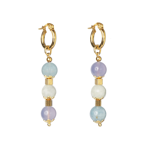 Purple Chalcedony and Aquamarine 8mm Drop - Gaea | Crystal Jewelry & Gemstones (Manila, Philippines)